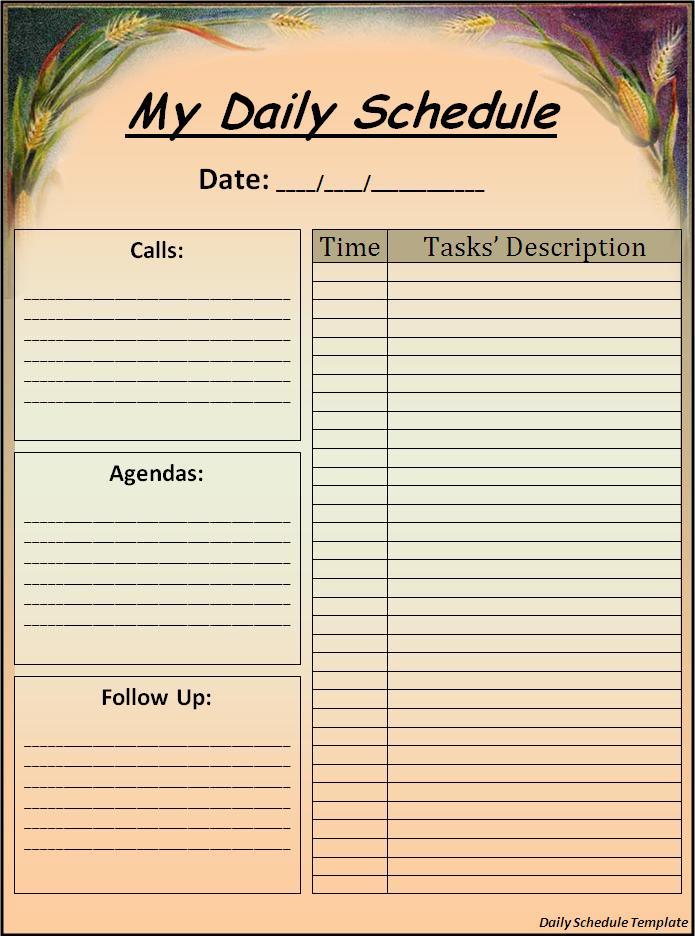 Make A Daily Calendar Onweoinnovate